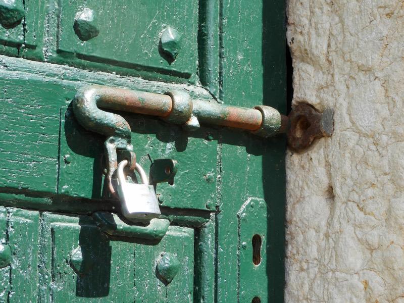 Bild: Tür mit Schloss